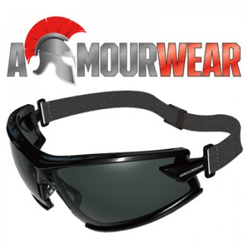 ARMOURWEAR RAPPER 19405SF SMOKE LENS GOGGLE FOAM AND STRAP