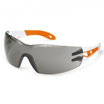 UVEX 9192-201 PHEOS WHITE/ORANGE FRAME SMOKE LENS SMALL