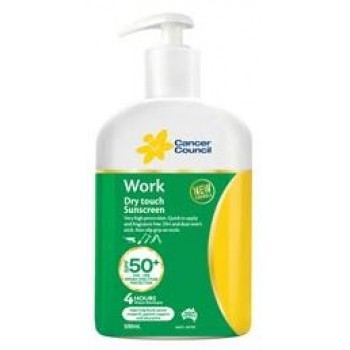 SUNSCREEN CANCER COUNCIL S-500-WK-50P 500ML PUMP SPF50+