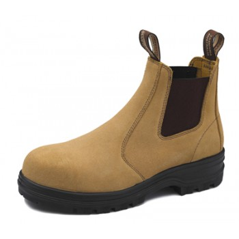 BLUNDSTONE B145 SUEDE ELASTIC BOOT FAWN