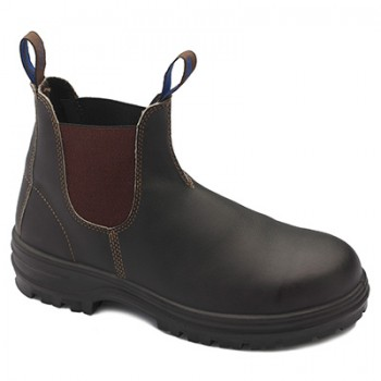 BLUNDSTONE B140 WATER RESISTANT E/SIDE BOOT BRN