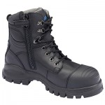 BLUNDSTONE B997 ZIP SIDE LACE UP BOOT BLACK